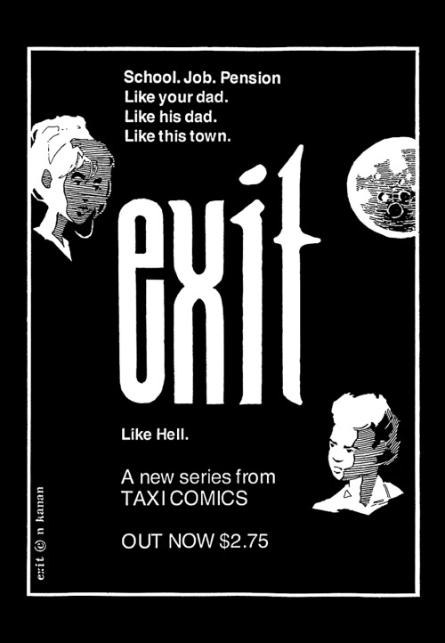 Promotional ad for Exit by Nabiel Kanan, 1992.