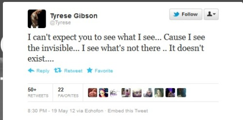 dumbesttweets:  Tyrese is at it again… atane submitted  I think @tyrese needs a seat and a mental check up…