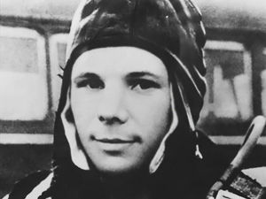 fuckyeahhistorycrushes:  Yuri Alekseyevich Gagarin Soviet cosmonaut and first man into outer space.