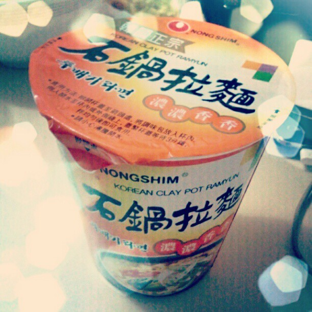 Korean clay pot ramyun #korean #noodle #ramyun #instagram  (Taken with instagram)
