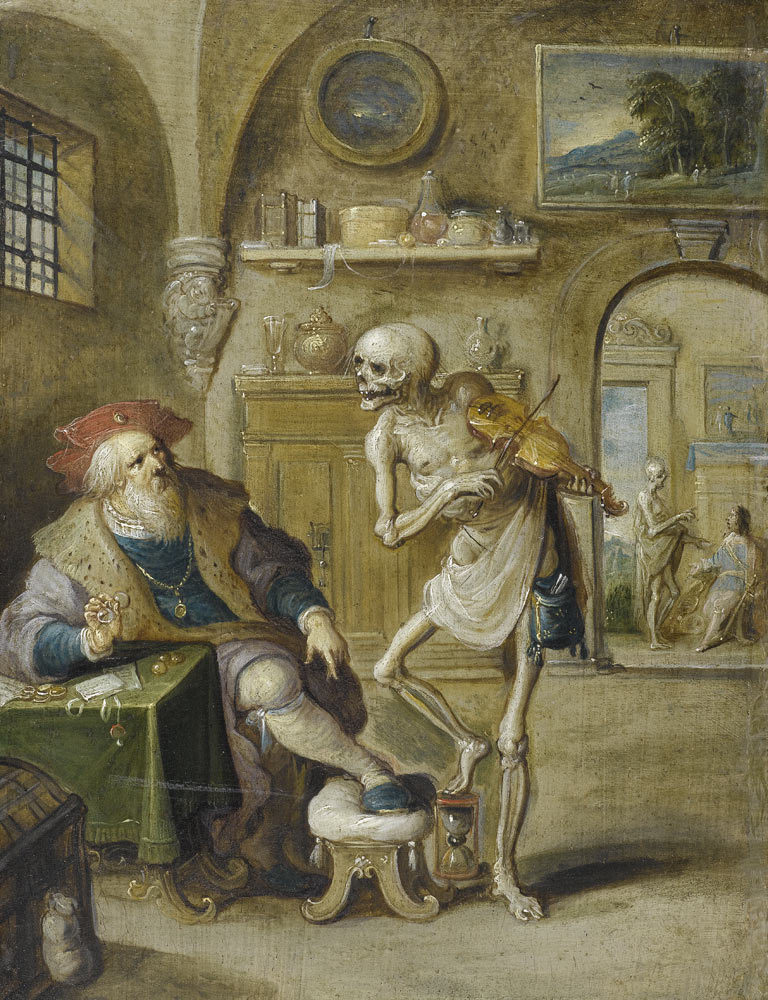 tagaoth:  Der Geigende Tod- Death Playing the Violin -Frans Francken II ~17th century