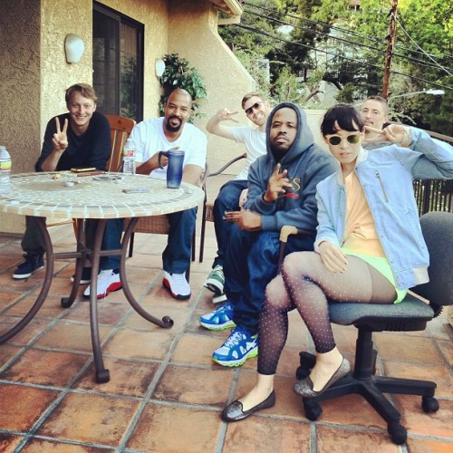 waxandmilk:  therealbigboi:  Hanging out with Little Dragon on a sunny California afternoon (Taken with instagram)  MY EARS ARE NOT READY FOR THIS