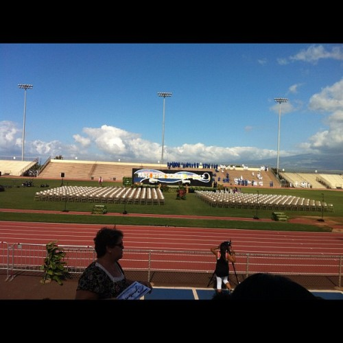 Waiting for Maui High School graduation to start. #maui #graduation #2012 (Taken with instagram)