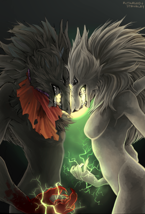 phantom-shadow:  strivalry:  shawty wanna yiff uvu* lines by kitka. also i was taking progress shots throughout this ordeal so there's this too. though my inability to take a straight screenshot is embarrassing.  Holy fuck on a stick.