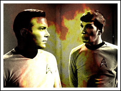 Spock and Kirk and the flame between them.