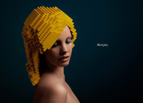 Lego wigs (via DESIGN FETISH)