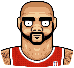 ronartist:  A piece I call 'Nobody Loves Carlos Boozer'.