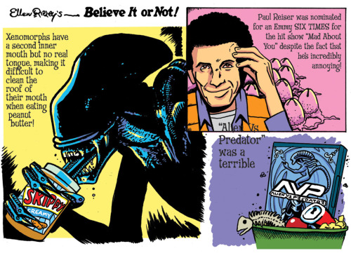 Ellen Ripley's Believe It Or Not! drawn by @RyanDunlavey for ToyFare magazine