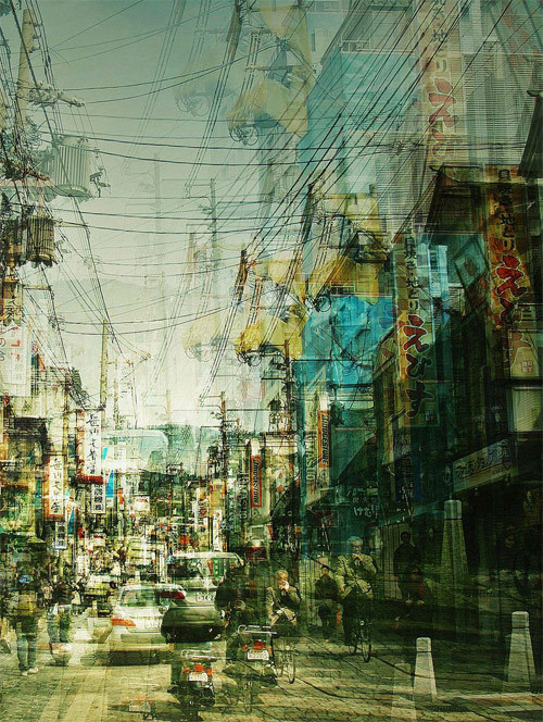 Multiple exposure photography by Stephanie Jung. Very cool effect used to explore time and space, blah blah blah.