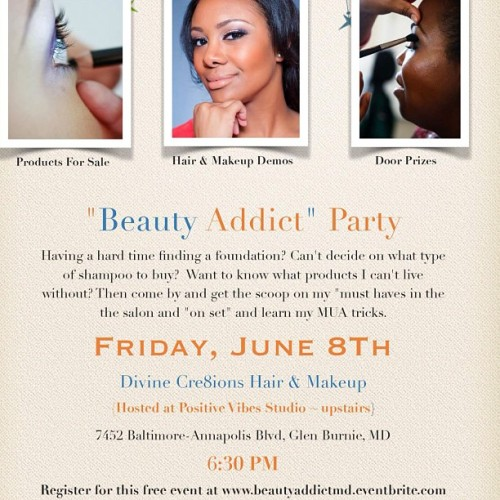 15 Tickets left! www.beautyaddictmd.eventbrite.com (Taken with instagram)