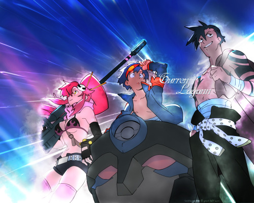 Gurren Lagann Wallpaper by ~Ch33zyph33r