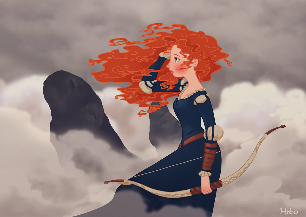 I love this one too.  becausesometimesdreamsdocometrue:  My favorite Merida and my avatar on here by Hito76.