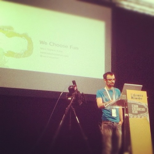 @marcsallent chose fun at #offfbcn , great speak & work man!!! (Taken with instagram)