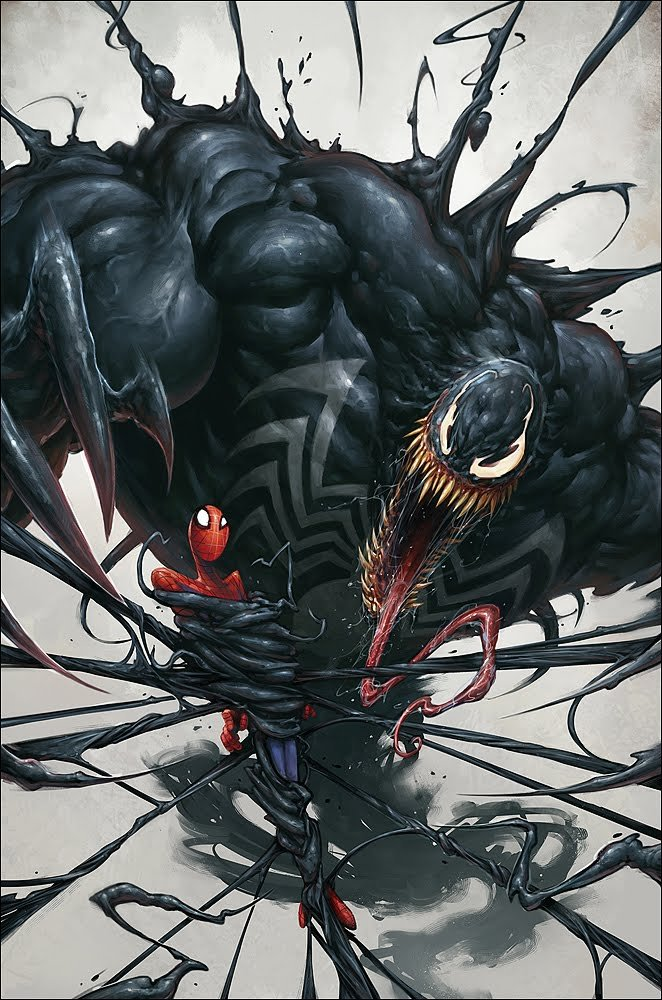 Venom & Spider-Man illustration by Blaz Porenta. March, 2011.