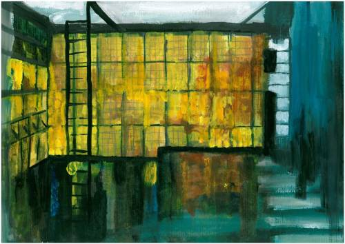 'La Maison de Verre' as 'the artists house' acrylic on canvas_ 2008_Architectural Communications
