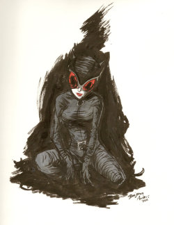 Catwoman sketch by Benjamin Anders. August, 2011.