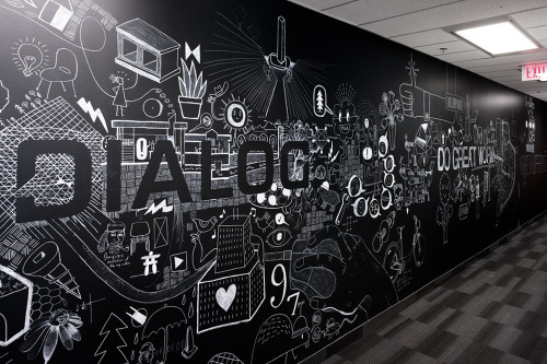 Part of a 50 foot mural we made for an Architecture firm. Photos by Chris Thomaidis. More images here.