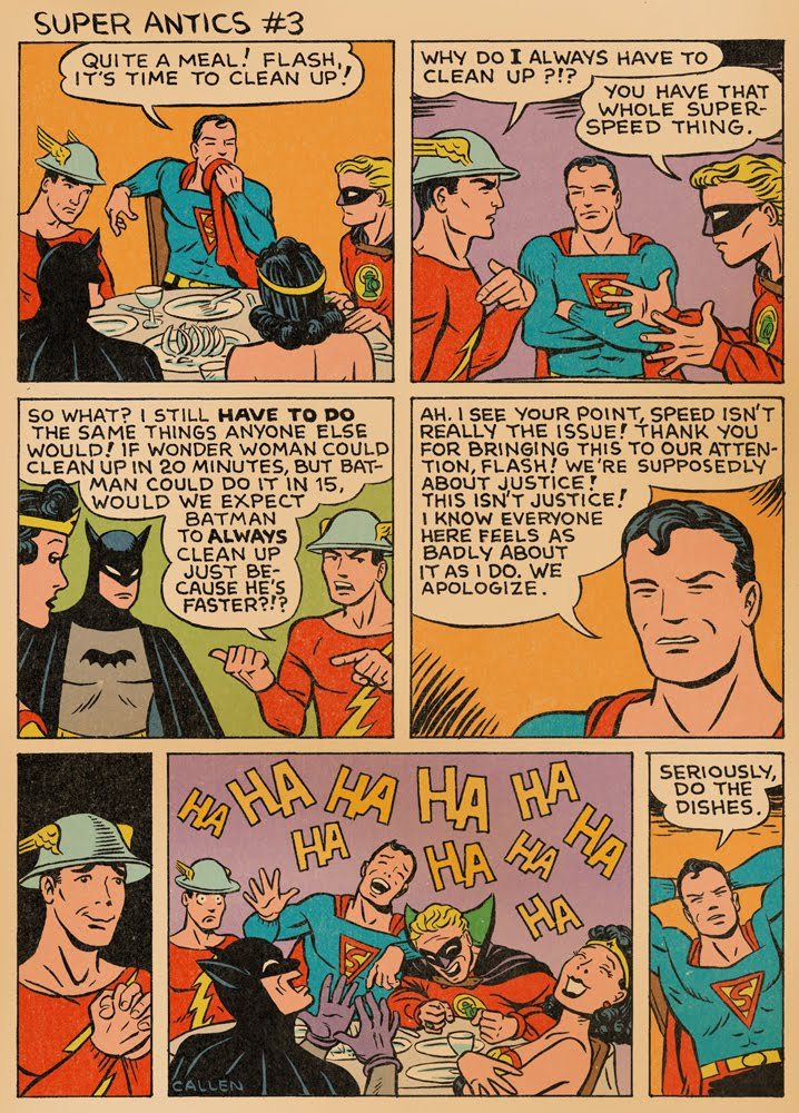 fyeahsuperheroes:  Super Antics #3