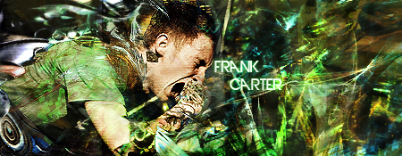 Frank Carter-Musician. Designed by 3Dot