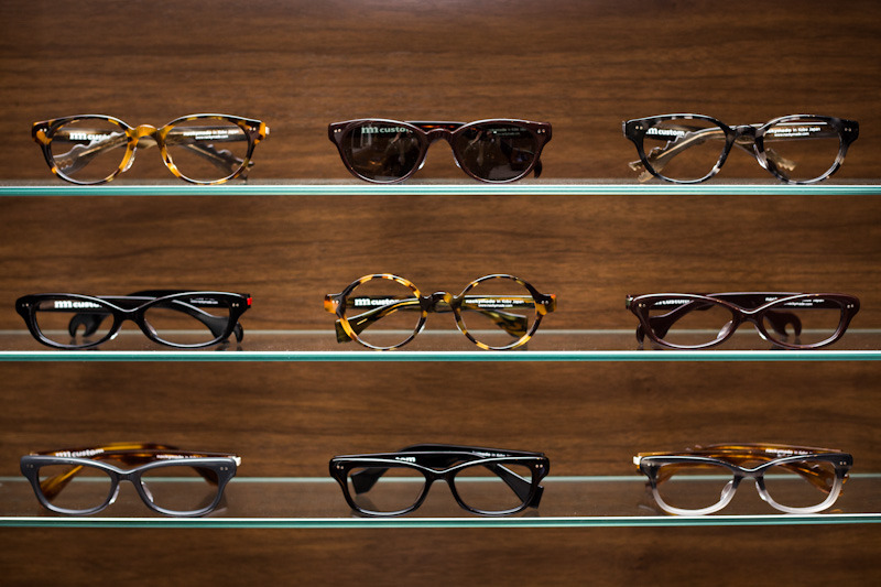thearmoury:  Nackymade, custom glasses from Kobe, trunk show May 25 + 26  shades~! <3