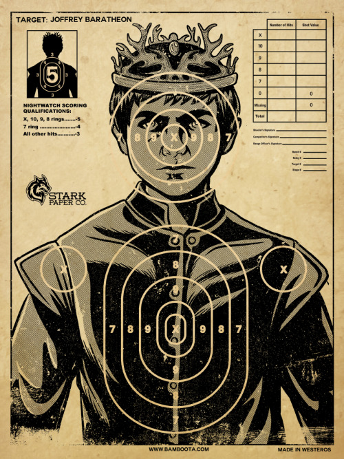 "Who DOESN'T hate King Joffrey from Game of Thrones? lol""The Perfect Target"" by Bamboota now available on Redbubble!Click here for the:T-shirt PrintsiPhone CasePosterFollow me: FACEBOOK 