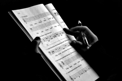 Orchestration (Black and White) (by Steve Xavier)