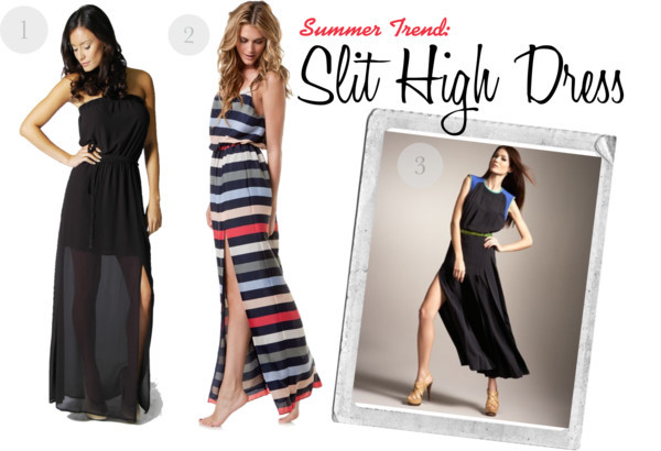 Summer Trend: Slit High Dress by marialyssa featuring maxi dresses