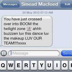 Anyone else think sineads a bit excited ?  (Taken with instagram)