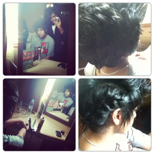 "yolomag:  Me ""@TaimAlFalasi"" & @AlnadyJanahe , done with her hair by @thirtyyseven ! =D"