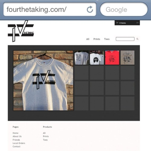 @fourthetaking has an online shop! Check it out and spread the word! #fashion #streetwear #clothing #fourthetaking (Taken with Instagram at fourthetaking.com)