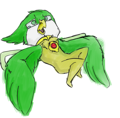 model-h:  Doodle to unwind. Illu requested I draw Mica upset and on her back. She probably fell off a table while she was sleeping. Again. Lazy cyberelf