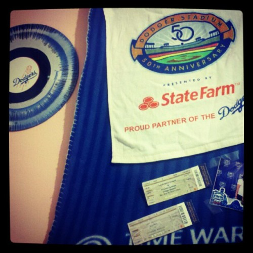 #dodgers added more stuff to my wall (Taken with instagram)