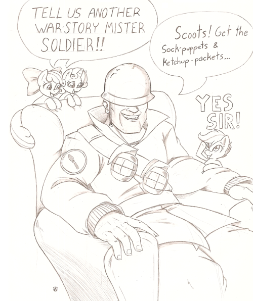 fisherpon:  norsepony:  Silly Uncle Soldier by *Joey-Darkmeat They're so tiny and adorable!   this is too adorable for the internet it poses a danger to the public