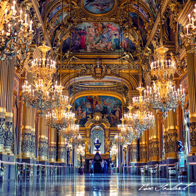 "# 57 Opéra Garnier, Paris ""What is this? It's not a style; it's neither Louis Quatorze, nor Louis Quinze, nor Louis Seize!"" ""Why Ma'am, it's Napoléon Trois"" replied Garnier ""and you're complaining!"" Empress Eugénie and Charles Garnier"