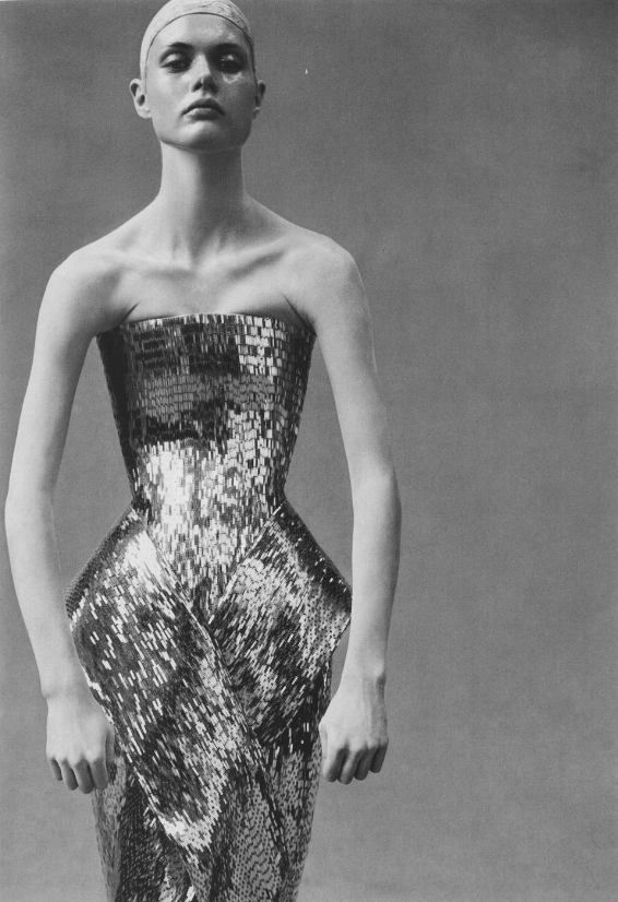 'couture' malgosia bela photographed by steven meisel for vogue italia, march 1999