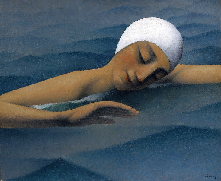 poboh:  The Swimmer, Felix Elie Tobeen. French (1880 - 1938)