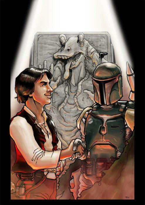 Jar Jar Binks Encased in Carbonite What A Beautiful Thing @StarWars