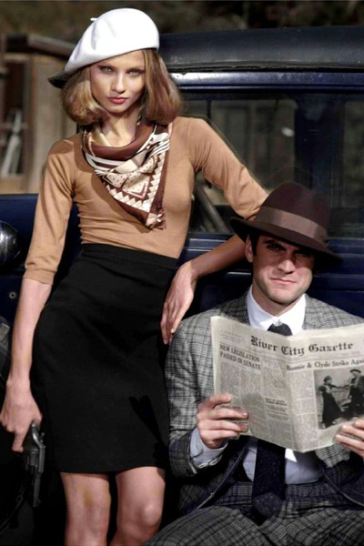 Bonnie and Clyde - via chictopia