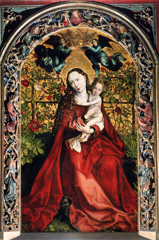 Martin Schongauer, Madonna of the Rose Bower