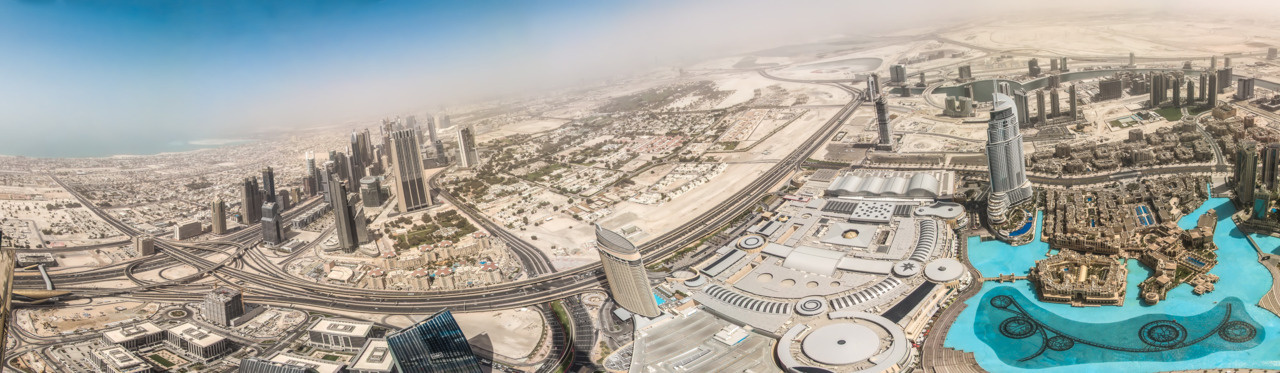 mon-chii:  Panorama from Burj Khalifa by ~w3rw01f