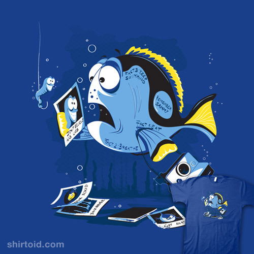 Di.Jay on tumblr | Facebook shirtoid:  Fish Memory available at Shirt.Woot