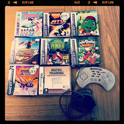 My last lot I got was mostly some #gameboy #games -  (Taken with instagram)