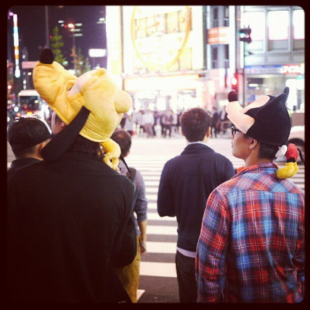 Pluto and Goofy in Shinjuku  (Instagramで撮影)