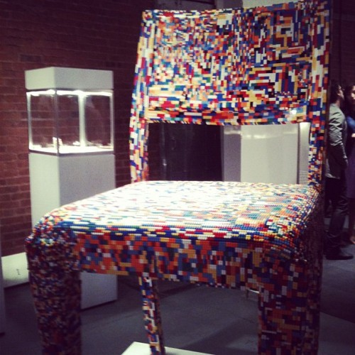 Giant LEGO chair by Alessandro Jordao #design diana_b, instagr.am