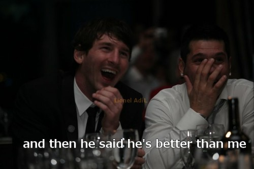 Messi Reaction after cristiano interview
