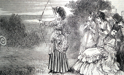 treselegant:  'OUTDOOR PAST-TIMES FOR LADIES.  ARCHERY.'  Bow Bells, 1872.