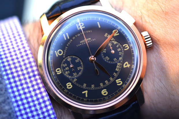 (via JNKsystem.com  : Vulcain 50s Presidents Chronograph Heritage Watch)