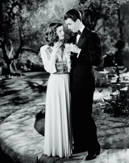 "Katharine Hepburn and James Stewart in ""The Philadelphia Story"" (1940)"