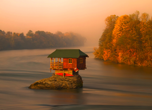 Island House, Drina River, Serbia photo via dell