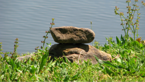 Stacked rocks zen